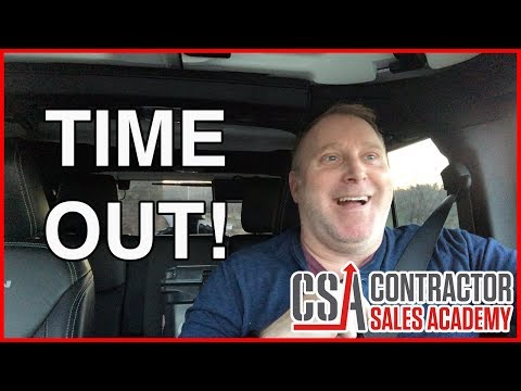 Calling a Timeout While Talking to Contractor Sales Leads