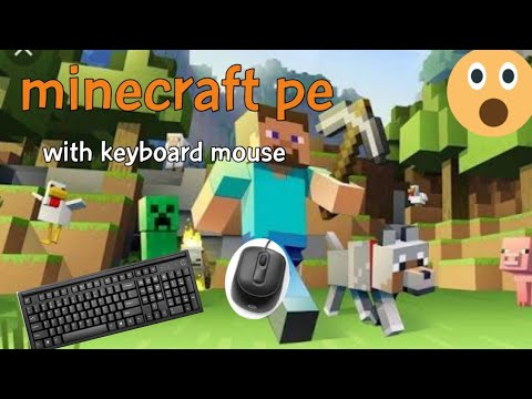 How To Play Minecraft Pe With Keyboard And Mouse android Gameplay