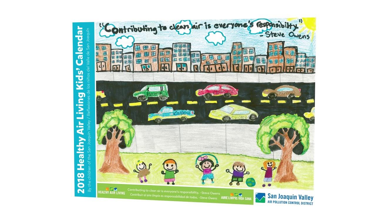 2018 healthy air living kids calendar