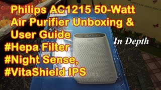 Philips 1000 Series NightSense AC1215 Air Purifier Unboxing, Using & Servicing