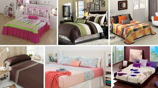 Amazing bed sheet design ideas || bed sheets designing at home|| bedroom decorating