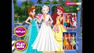 Мультик игра Принцессы Диснея: Свадьба в саду (Princess Garden Wedding)