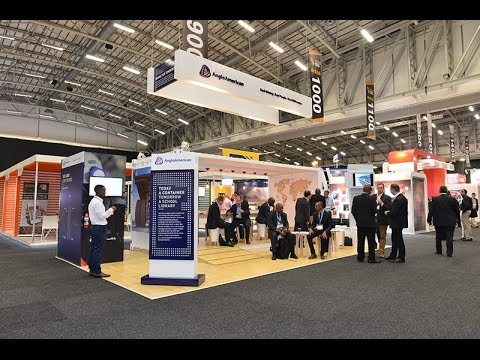 The Anglo American exhibition stand at 2016 Mining Indaba