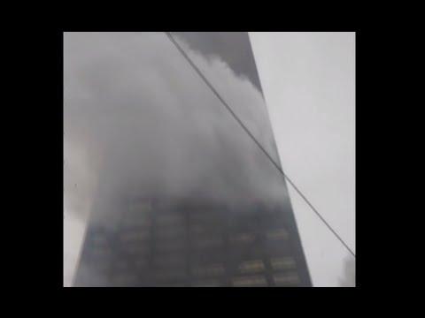 RAW: Blaze rages through Hancock skyscraper in Chicago