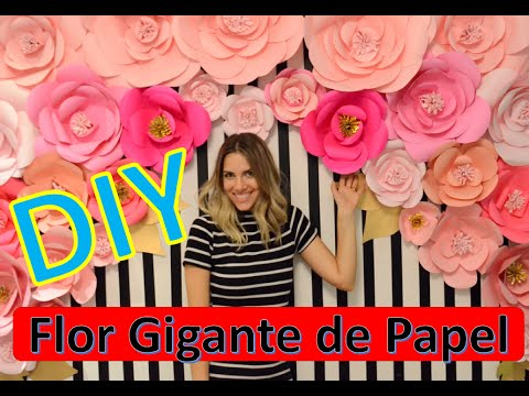 Diy Flor Gigante De Papel Youtube