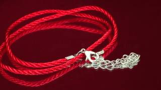Браслет оберег: как сделать из красных нитей и камней своими руками