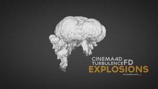 Explosions Cinema4D, X-Particles & TurbulenceFD