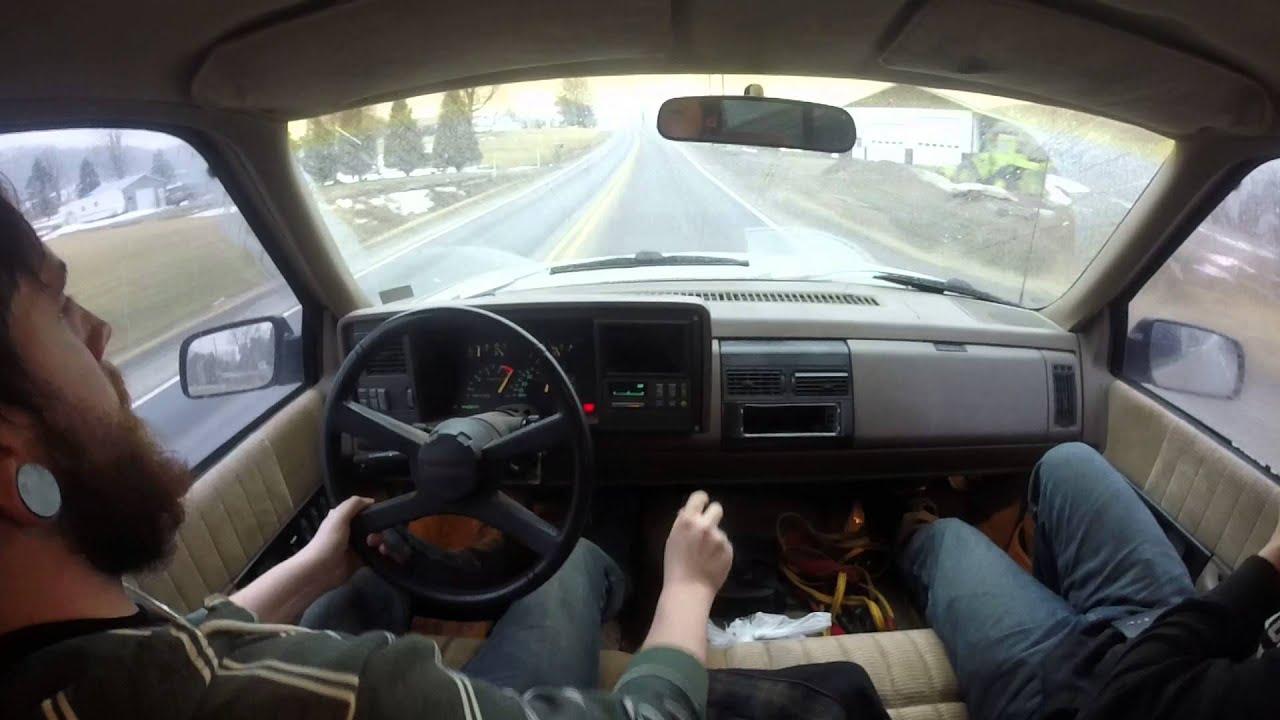 92 Chevy C1500 350 TBI 5 Speed 3.08 Gears - YouTube