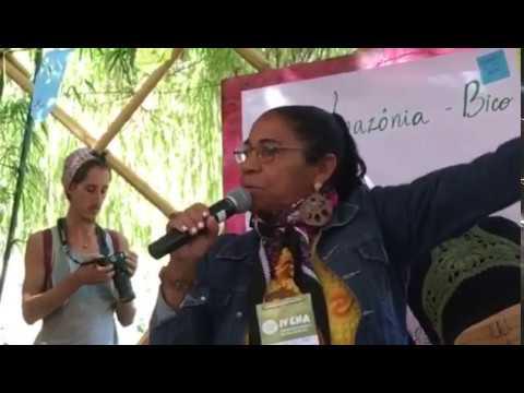 Dona Socorro, coordenadora geral da Rede Cerrado no IV ENA