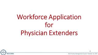 Using Physician Extenders