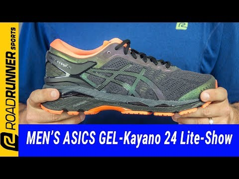 asics gel-kayano 25 lite-show men's running shoe black