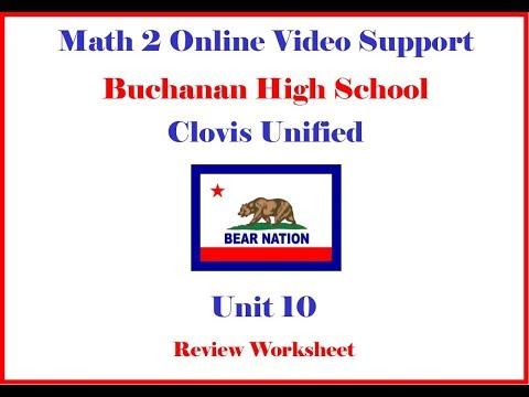Math 2 Unit 10 Review Morgan