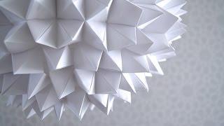 DIY: Cómo hacer una lámpara de Origami con papel bond | Hazlo tú mismo