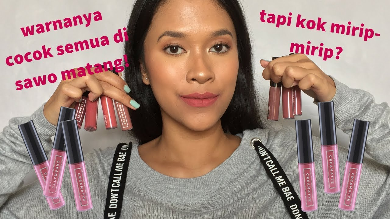 Review Swatches Emina Lip Cream New Shades Indonesia Youtube Matte Lipcream
