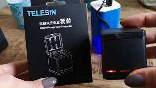 GoPro 5, 6, 7 Battery Charging and Storage Box by Telesin