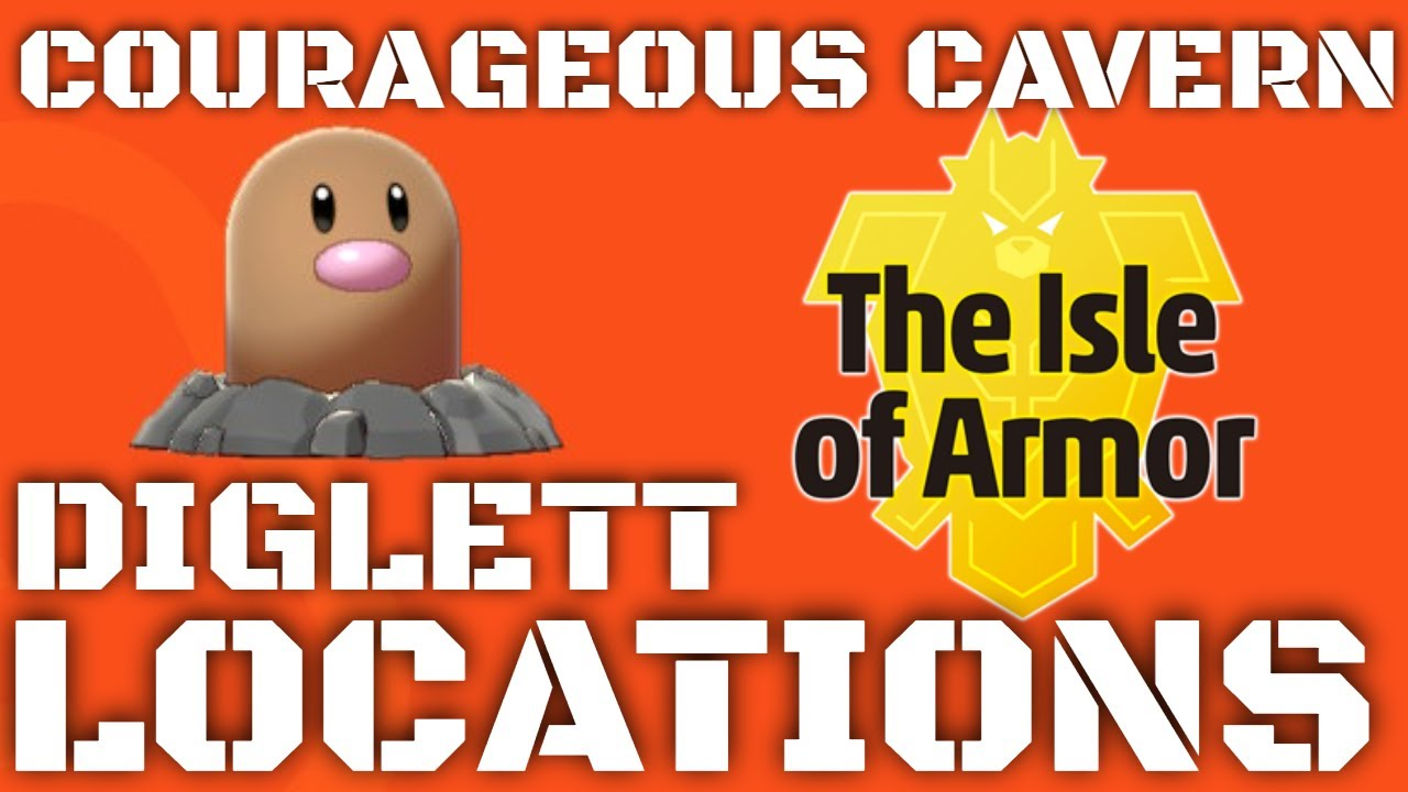 Isle Of Armor Diglett Locations Courageous Cavern