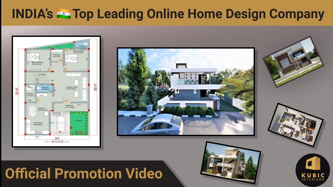 Official Promotional Video   INDIA's Top Leading online Home Design  Company   Kubic Home Design.