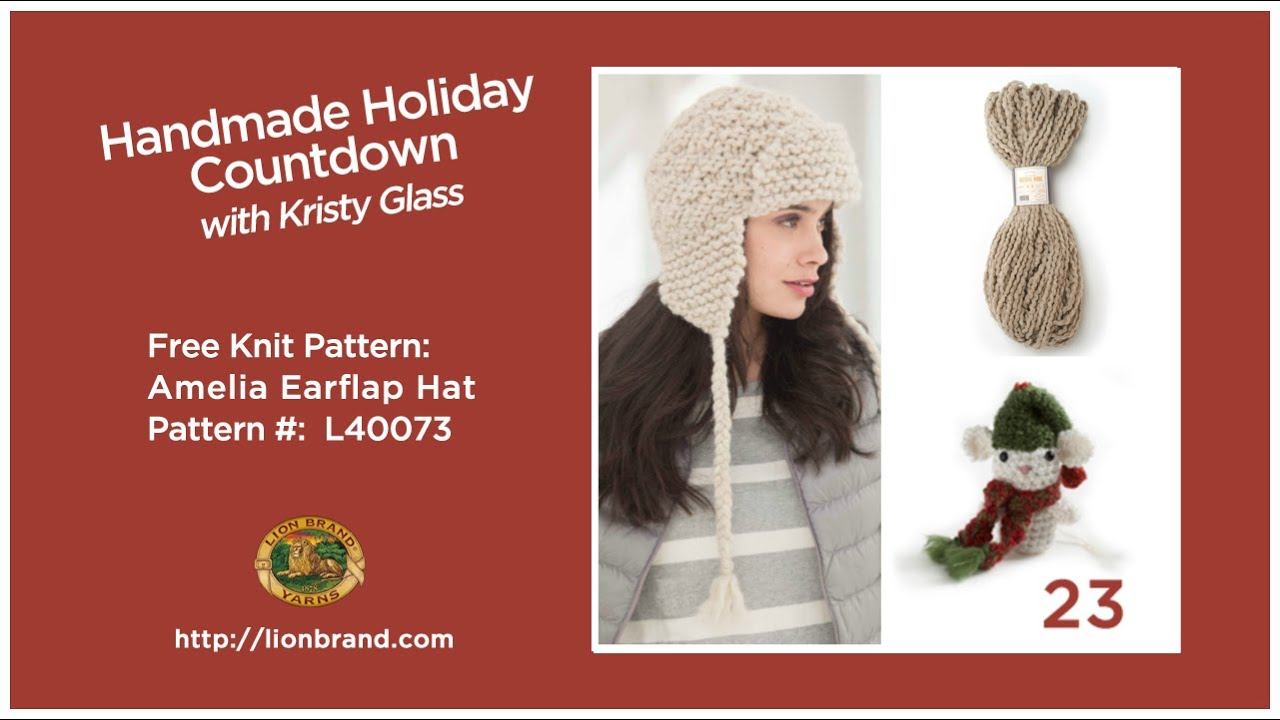 Knit an amelia earflap hat lion brands handmade holiday knit an amelia earflap hat lion brands handmade holiday countdown 23 bankloansurffo Gallery