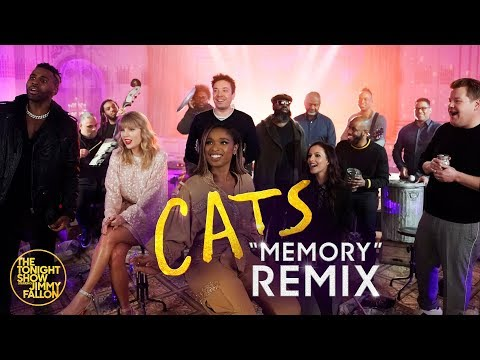 "Jimmy Fallon, The Cast Of Cats & The Roots Remix ""Memory"" (Classroom Instruments)"