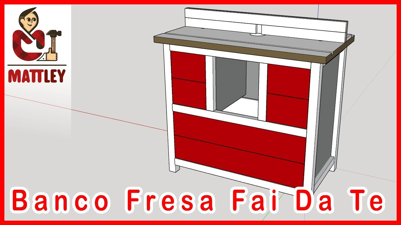 Fai da te come costruire un banco fresa parte 1 youtube for Panchine fai da te