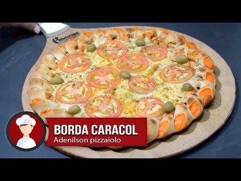 Pizza com borda recheada caracol