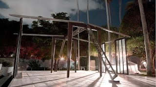 Bally Art Basel Miami 2014 - Assembling of the Jean Prouvé Demountable House for