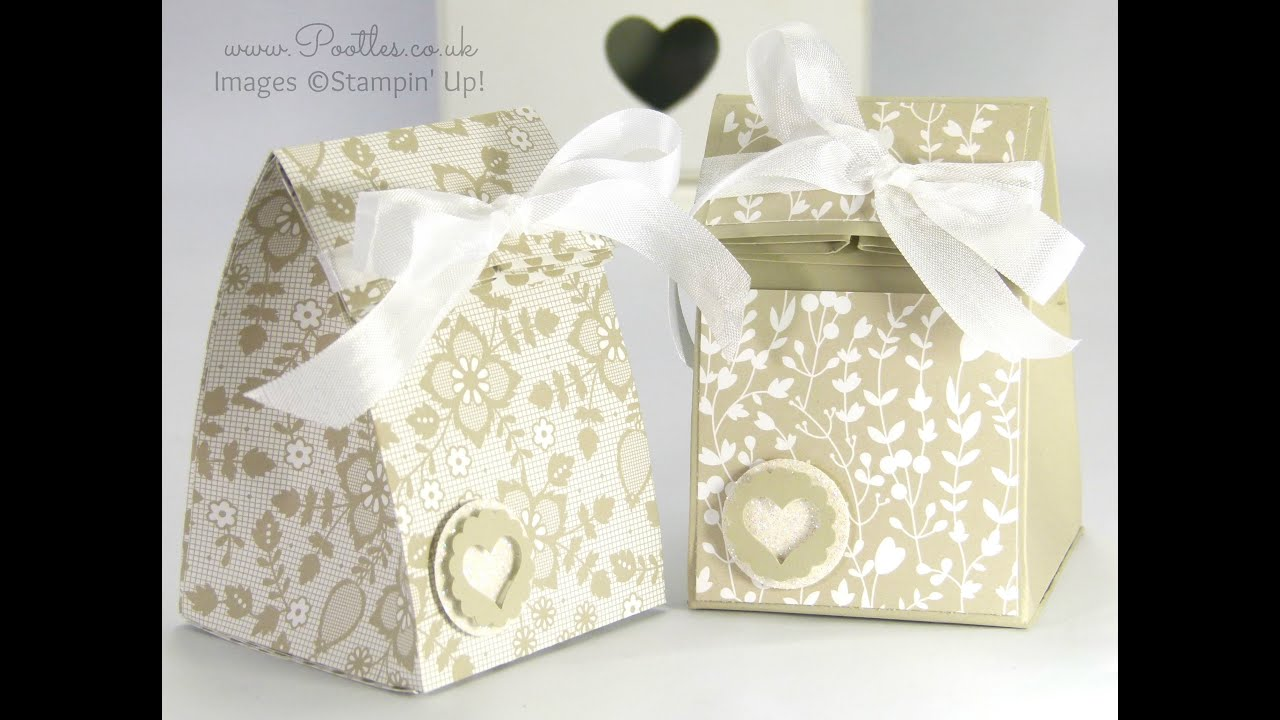 Stampin\' Up! Fold Over Smooth Domed Bag Tutorial - YouTube