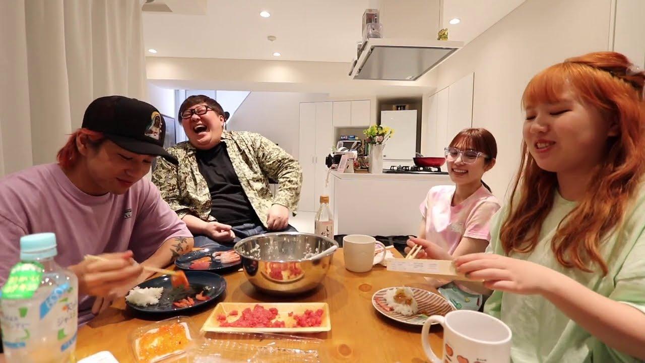 手巻き寿司パーティーや!最高やん!