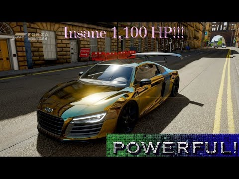Gold Audi R8 V10 1,100 HP Forza Horizon 4!