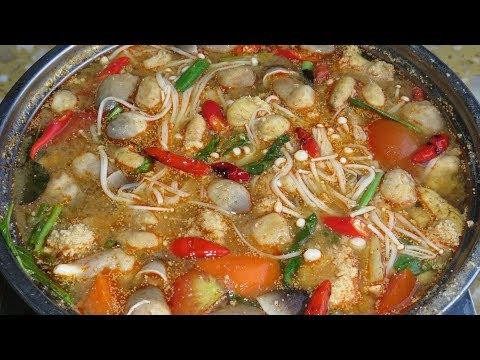 Tom Yum Soup Recipe សម្លរតុងយាំពងត្រី – Hot Khmer Kitchen / Cook Canned Fish And Roe