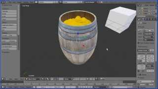 Blender Tutorial Making A Wooden Barrel Part 5 Making A Barrel Look Like It Is Filled With Coins