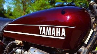 1974 yamaha tx750 burgundy sold