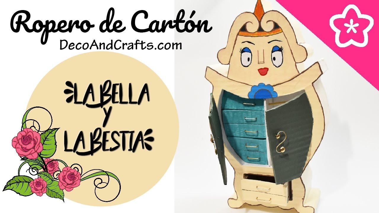 Mueble de Cartón Disney la Bella y La Bestia - DecoAndCrafts - YouTube