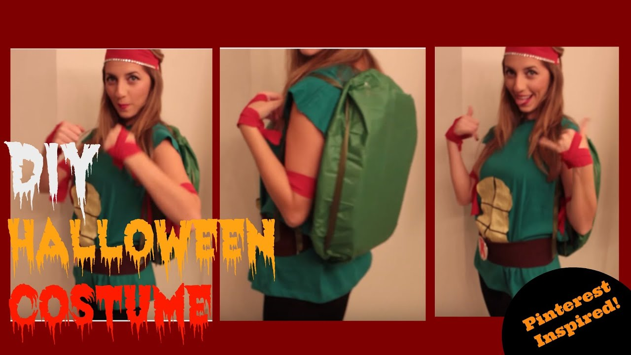 Last minute diy halloween costume for women cute ninja turtle last minute diy halloween costume for women cute ninja turtle youtube solutioingenieria Choice Image