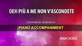Deh più a me non v'ascondete / Bononcini: Karaoke + Score guide / High voice