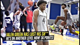 Jalen Green AIN'T TAKING SH** From NO ONE Anymore!! DEMOLISHES Defender w/ INSANE Dunk & Drops 36!!