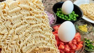 Egg Maggi Recipe -Egg Noodles - MAGGI-Egg-Egg Maggi With Vegetables