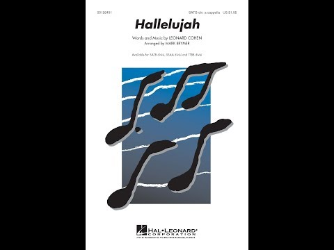 Hallelujah SATB a cappella  Arranged  Mark Brymer