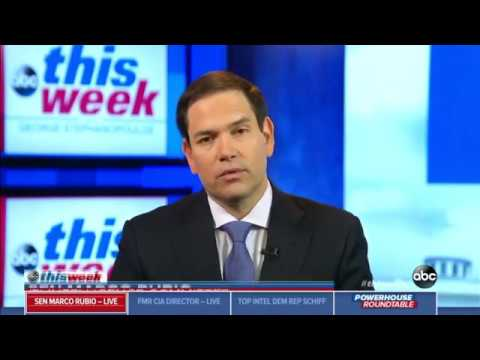 On ABC's This Week, Rubio Discusses China's ZTE, North Korea Threat