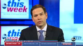 On ABC's This Week, Rubio Discusses China's ZTE, North Korea Threat thumbnail