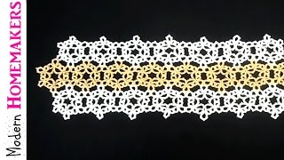 Tatted Snowflake Table Runner Part 1