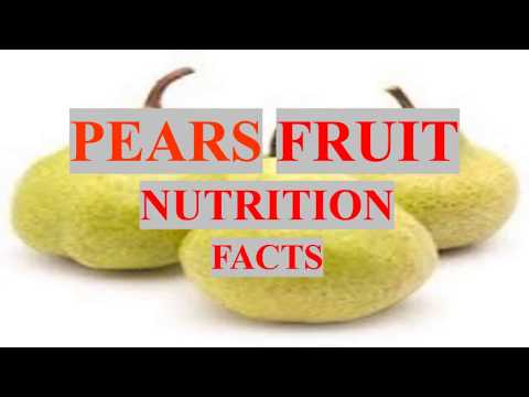 PEARS FRUIT HEALTH BENEFITS AND NUTRITION FACTS