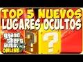 TRUCOS GTA 5 ONLINE - TOP 5 NUEVOS LUGARES OCULTOS - GTA 5 PS4, PC Y XBOX ONE