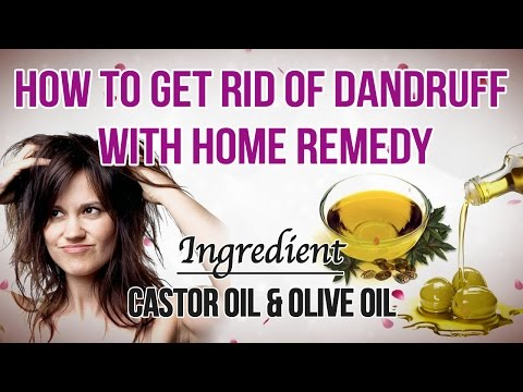 How to Get Rid of Dandruff Permanently at Home | How To Get Rid of Dandruff | Castor oil