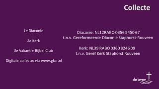 Kerkdienst GKSR de Bron d.d. zondag 28 juni 2020