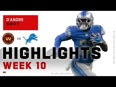 D'Andre Swift Is a Double Threat w/ 149 Totals Yds | NFL 2020 Highlights