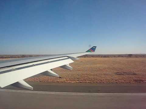Air Namibia Airbus A340-300 landing at Windhoek's Hosea Kutako International Airport