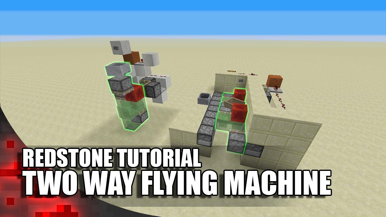 vertical flying machine minecraft