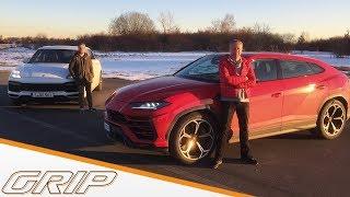Lamborghini Urus gegen Porsche Cayenne Turbo | Niki Schelle vs. Jan Seyffarth | GRIP