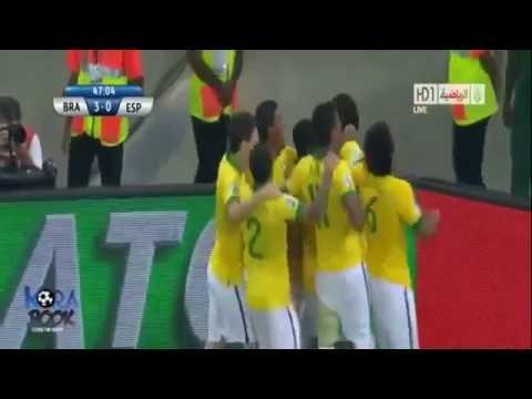 Brazil vs Spain 3-0 Confederations Cup Final 2013